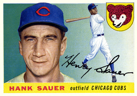 1955 Topps Hank Sauer #45 Baseball Card