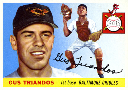 1955 Topps Gus Triandos #64 Baseball Card