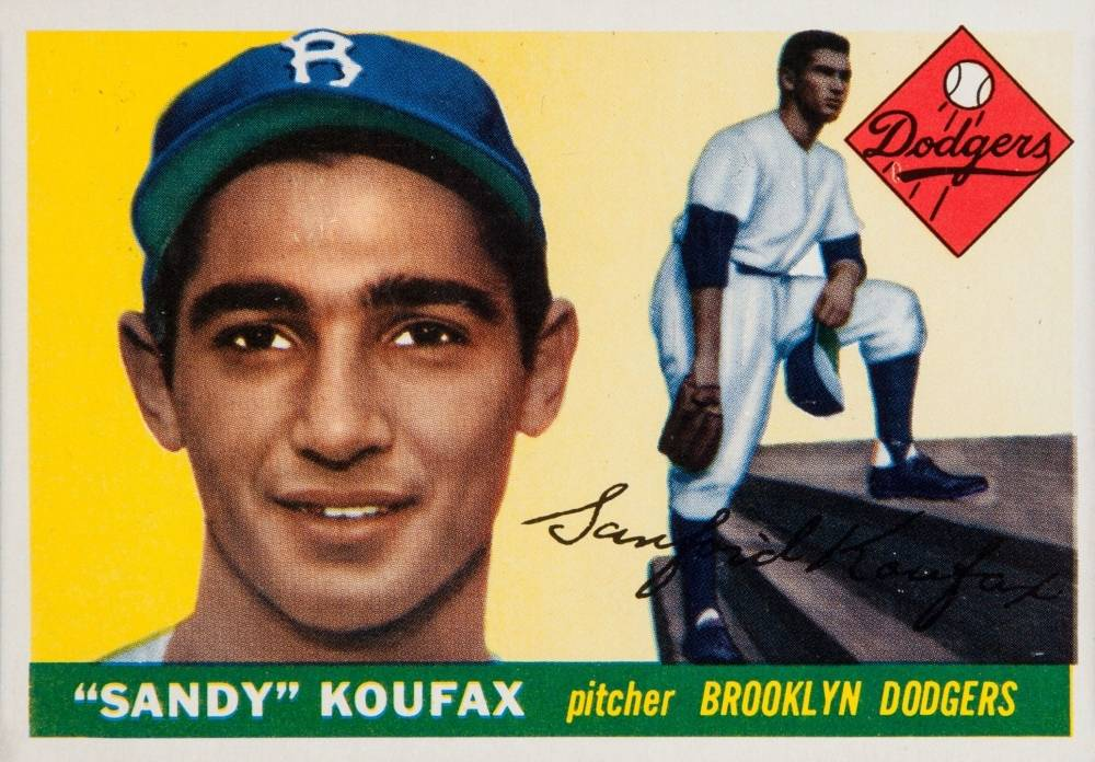 1955 Topps Sandy Koufax #123 Baseball Card