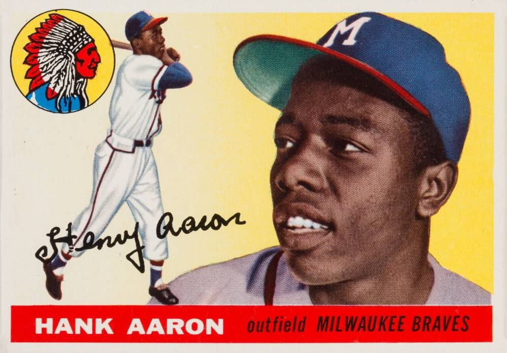 1955 Topps Hank Aaron #47 Baseball Card