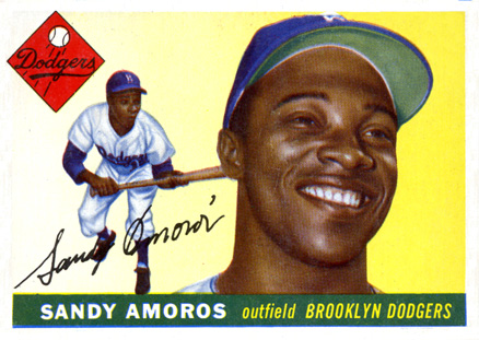 1955 Topps Sandy Amoros #75 Baseball Card