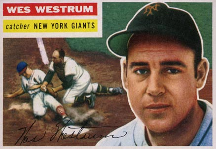 1956 Topps Wes Westrum #156 Baseball Card