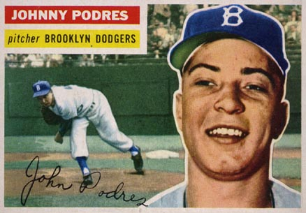 1956 Topps Johnny Podres #173 Baseball Card
