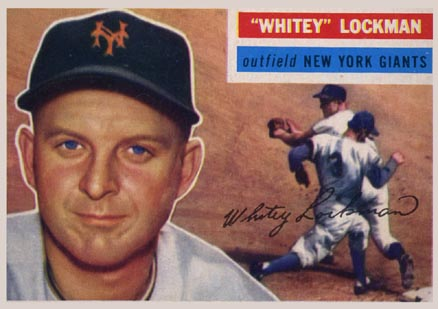 1956 Topps Whitey Lockman #205 Baseball Card