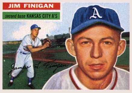 1956 Topps Jim Finigan #22 Baseball Card
