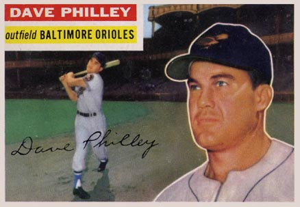 1956 Topps Dave Philley #222 Baseball Card