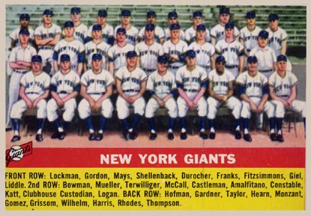 1956 Topps New York Giants Team #226 Baseball Card