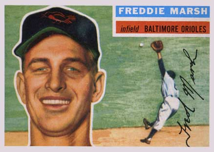 1956 Topps Freddie Marsh #23 Baseball Card