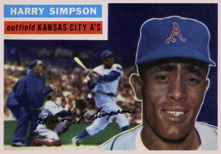 1956 Topps Harry Simpson #239 Baseball Card