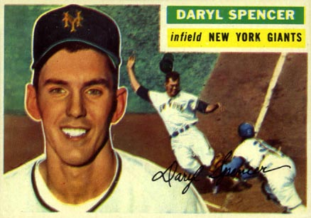 1956 Topps Daryl Spencer #277 Baseball Card