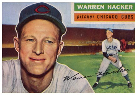 1956 Topps Warren Hacker #282 Baseball Card
