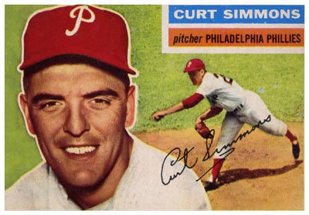 1956 Topps Curt Simmons #290 Baseball Card