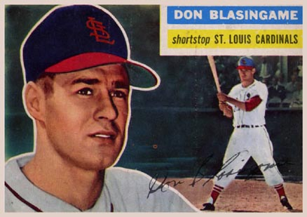 1956 Topps Don Blasingame #309 Baseball Card