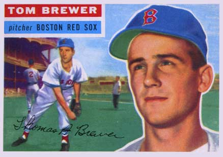 1956 Topps Tom Brewer #34 Baseball Card