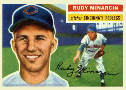 1956 Topps Rudy Minarcin #36 Baseball Card