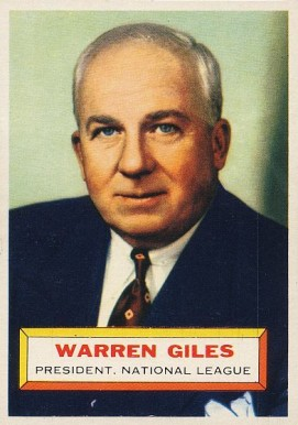 1956 Topps Warren  Giles #2w Baseball Card