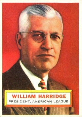 1956 Topps William  Harridge #1w Baseball Card