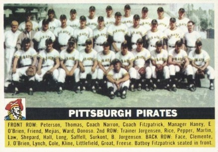 1956 Topps Pittsburgh Pirates #121w Baseball Card