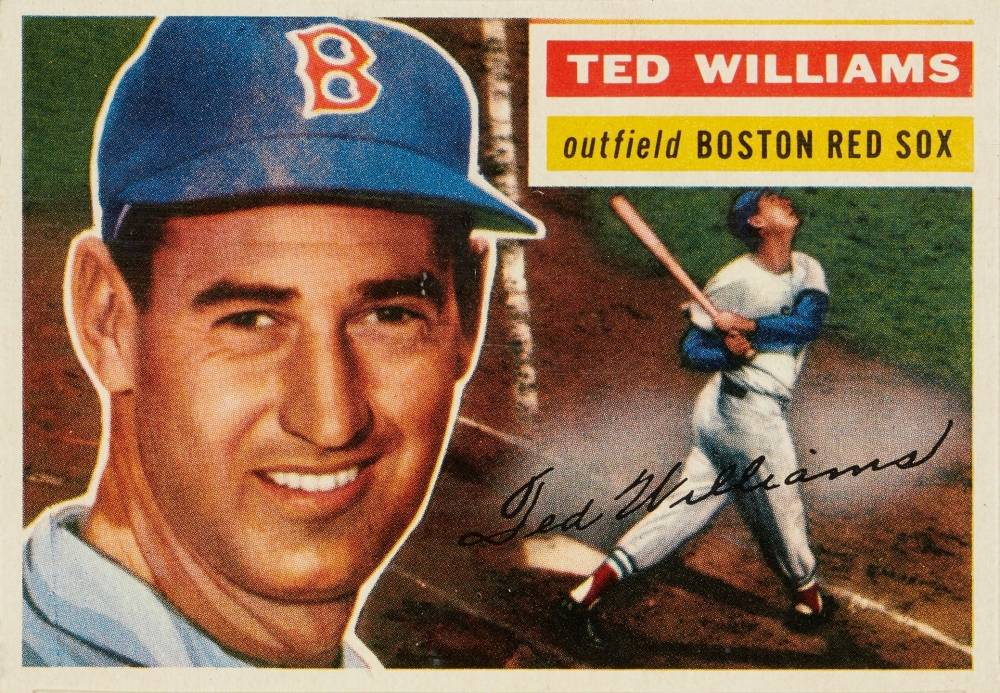 1956 Topps Ted Williams #5g Baseball Card