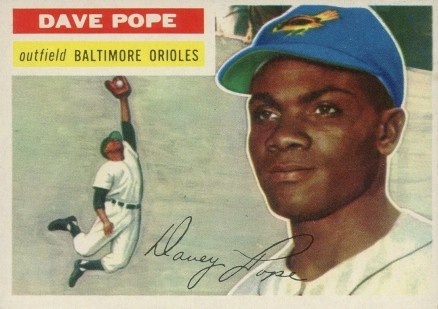 1956 Topps Dave Pope #154w Baseball Card