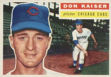 1956 Topps Don Kaiser #124w Baseball Card