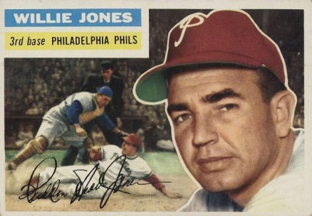 1956 Topps Willie Jones #127w Baseball Card