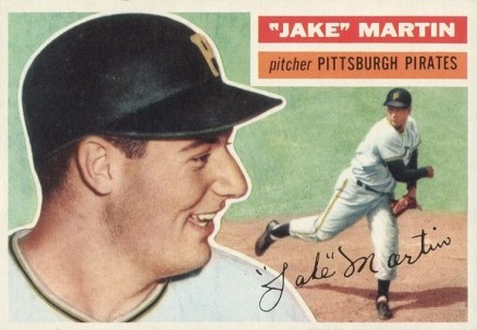 1956 Topps Jake Martin #129w Baseball Card
