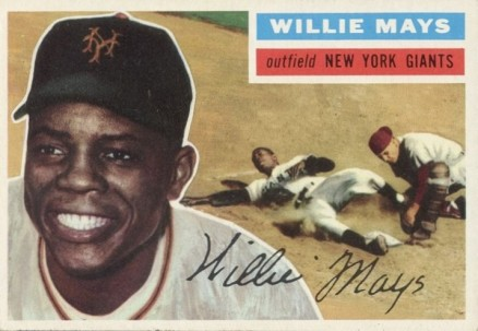 1956 Topps Willie Mays #130w Baseball Card