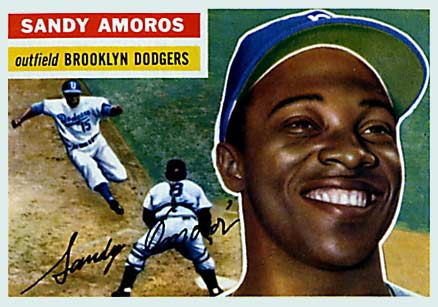 1956 Topps Sandy Amoros #42 Baseball Card