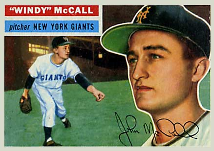 1956 Topps Windy McCall #44 Baseball Card