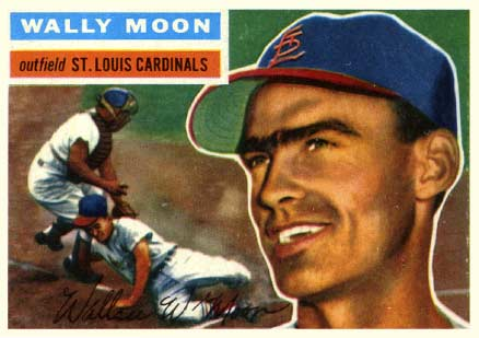 1956 Topps Wally Moon #55 Baseball Card