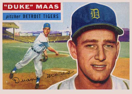 1956 Topps Duke Maas #57 Baseball Card