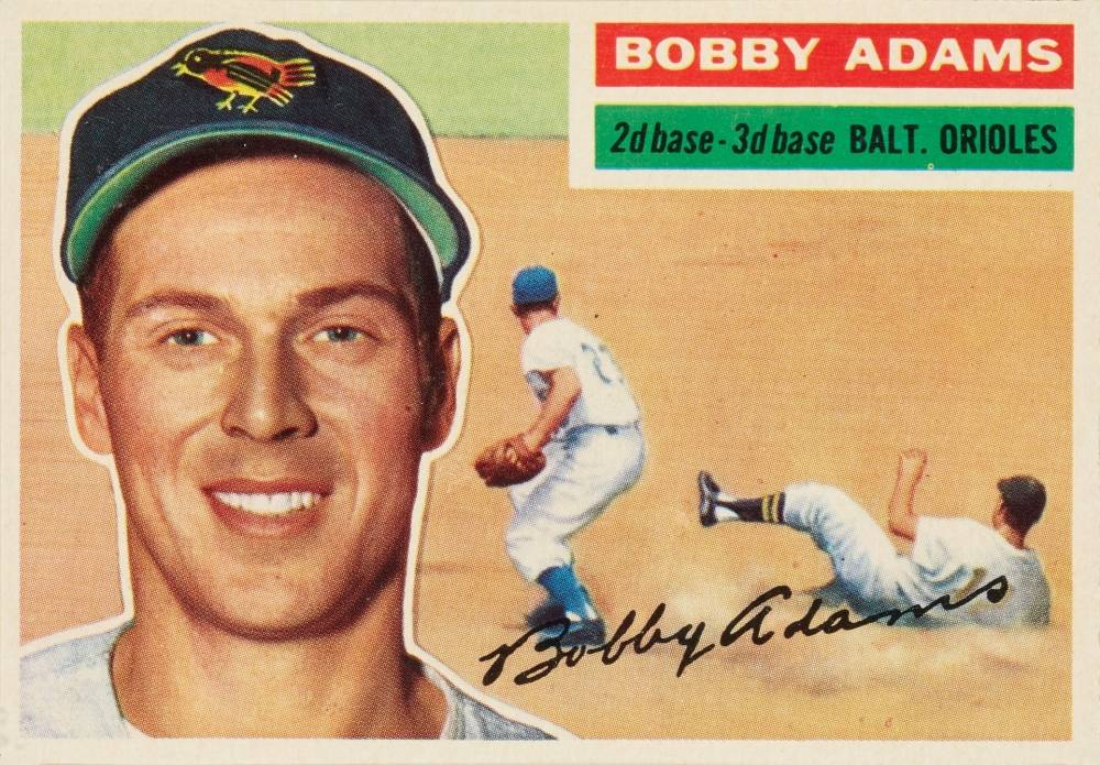1956 Topps Bobby Adams #287 Baseball Card