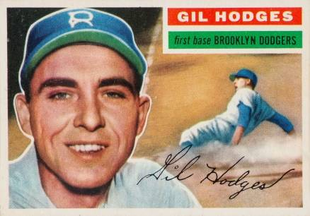 1956 Topps Gil Hodges #145 Baseball Card