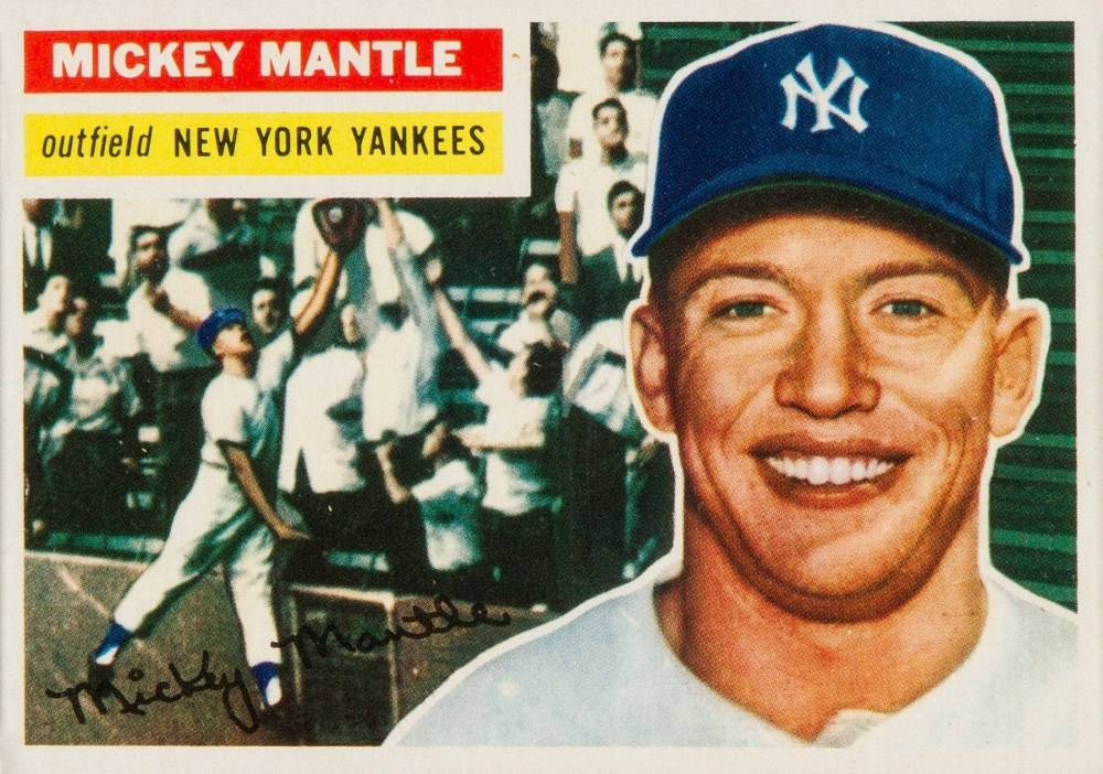 1956 Topps Mickey Mantle #135 Baseball Card