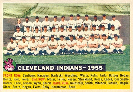 1956 Topps Cleveland Indians-1955 #85-date Baseball Card