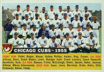 1956 Topps Chicago Cubs Team #11-date Baseball Card
