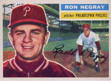 1956 Topps Ron Negray #7 Baseball Card