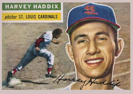 1956 Topps Harvey Haddix #77 Baseball Card