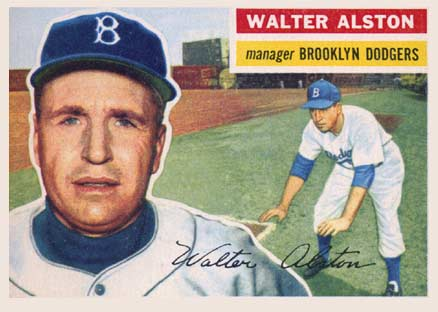 1956 Topps Walter Alston #8w Baseball Card