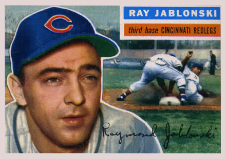 1956 Topps Ray Jablonski #86 Baseball Card
