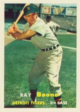 1957 Topps Ray Boone #102 Baseball Card