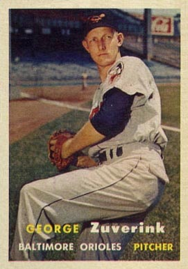 1957 Topps George Zuverink #11 Baseball Card