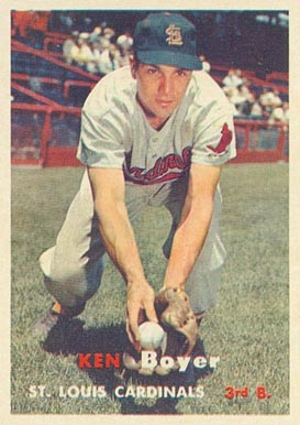 1957 Topps Ken Boyer #122 Baseball Card