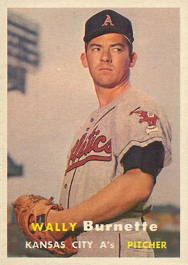 1957 Topps Wally Burnette #13 Baseball Card