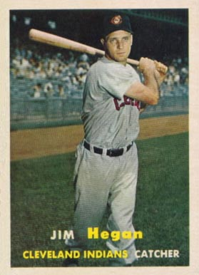 1957 Topps Jim Hegan #136 Baseball Card