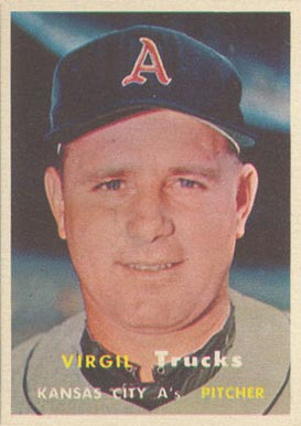 1957 Topps Virgil Trucks #187 Baseball Card