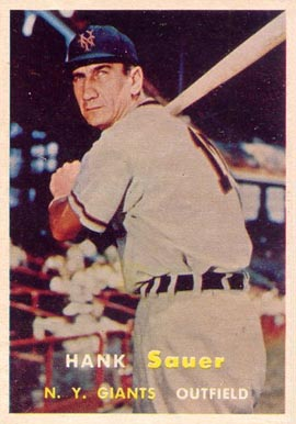 1957 Topps Hank Sauer #197 Baseball Card