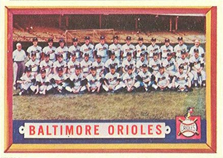 1957 Topps Baltimore Orioles Team #251 Baseball Card