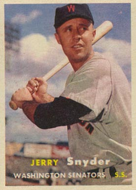 1957 Topps Jerry Snyder #22 Baseball Card